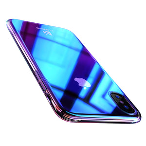 Slim Fit Gradient Color Case For iPhone XS - FLOVEME