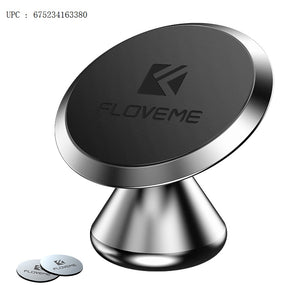 FLOVEME Magnetic Holder Car - Mount Air Vent Magnetic Holder Support Cable Clip Grip iPhone Xs Max,XR,X,8,8,7,6,6S Plus Samsung Galaxy S9,S8,S7 LG etc. (Silver) - FLOVEME