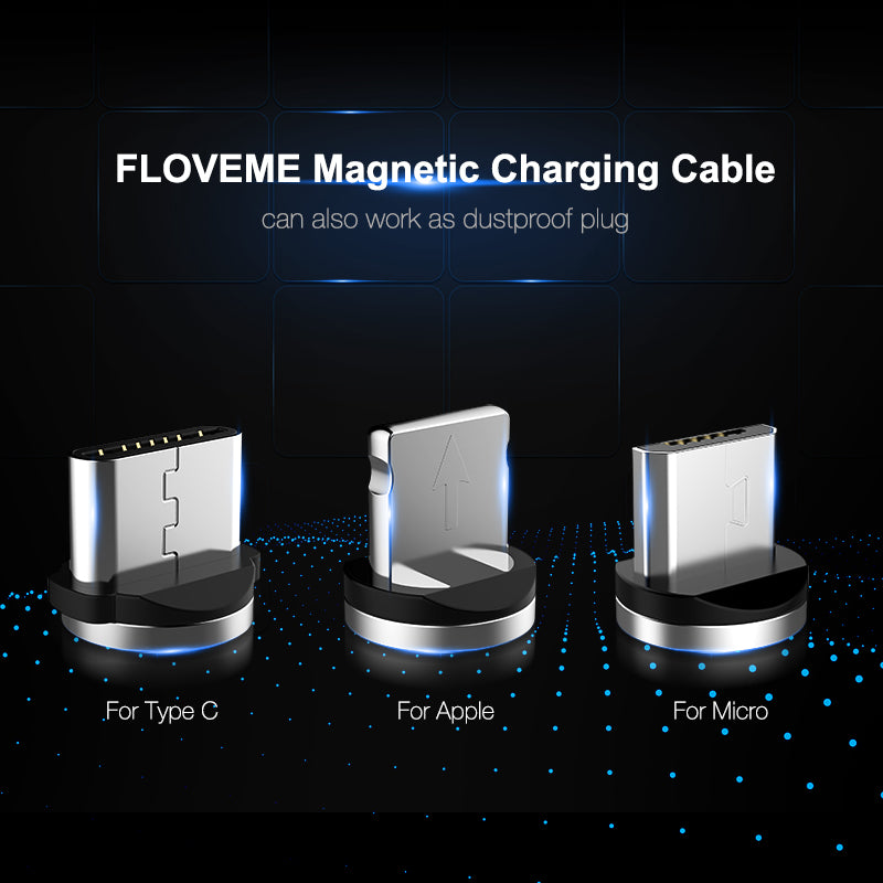 Fast USB Magnetic Charging Cable Durable Nylon Braided - FLOVEME