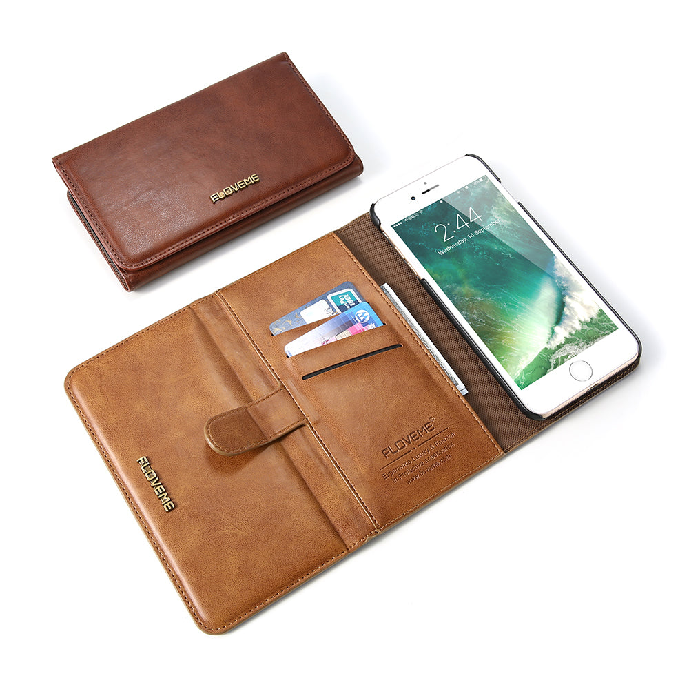Classical Magnetic Flip Wallet Case - FLOVEME