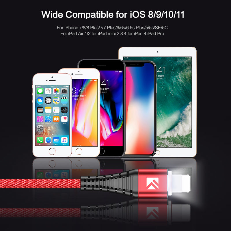 LED Light USB Data Charging Cable For All Smartphone - FLOVEME