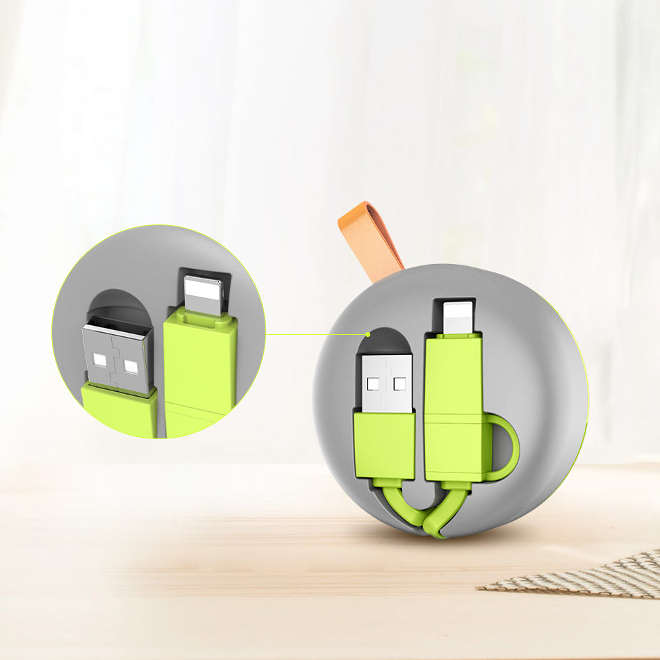 2 in 1 Retractable Phone Cable - FLOVEME