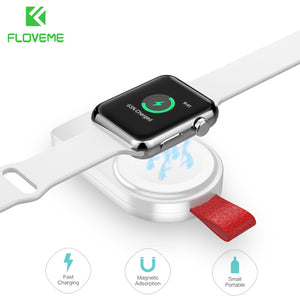 FLOVEME Wireless Charger for Apple Watch 4 Charger Magnetic Wireless Charging USB Charger for Apple Watch 4 3 2 1 Portable - FLOVEME