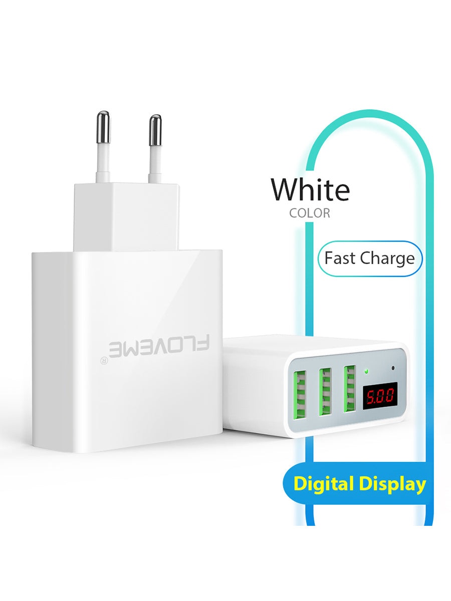 3 Port USB Wall Charger - FLOVEME