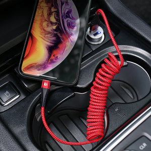 Spring Retractable Phone Charger Cord For Lighting - FLOVEME