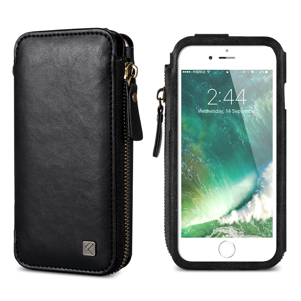 Retro Wallet Leather Bag for iPhone - FLOVEME