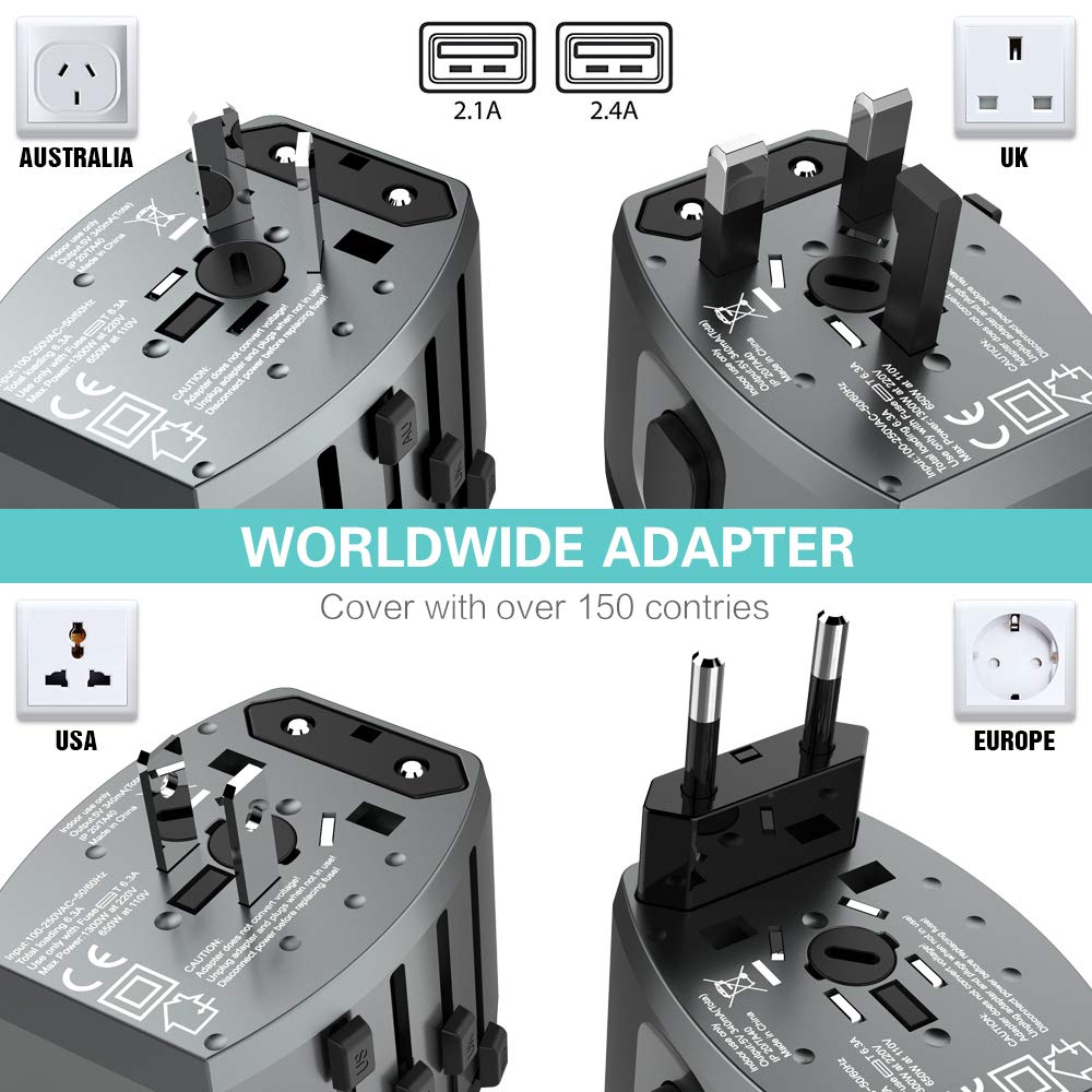 FLOVEME All in One Universal Travel Adapter - FLOVEME
