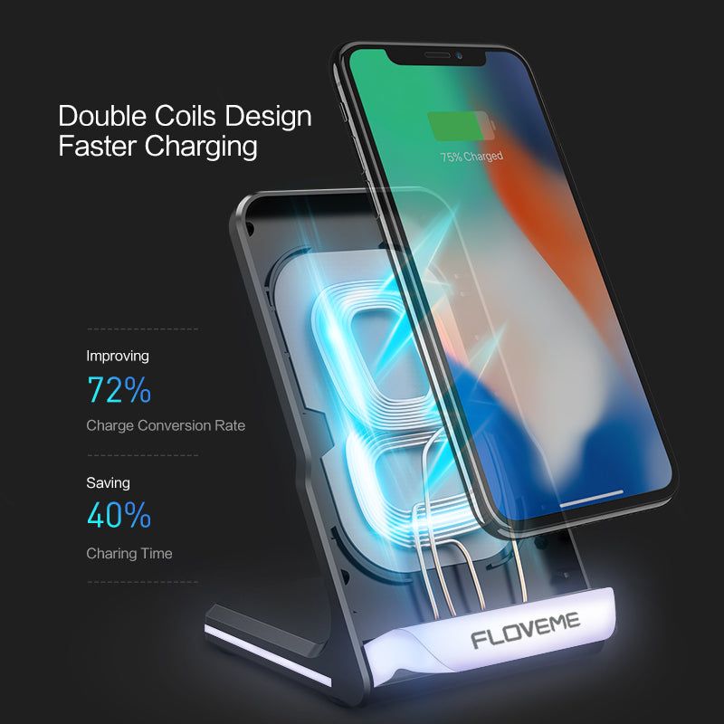10W Qi Wireless Charging Stand - FLOVEME