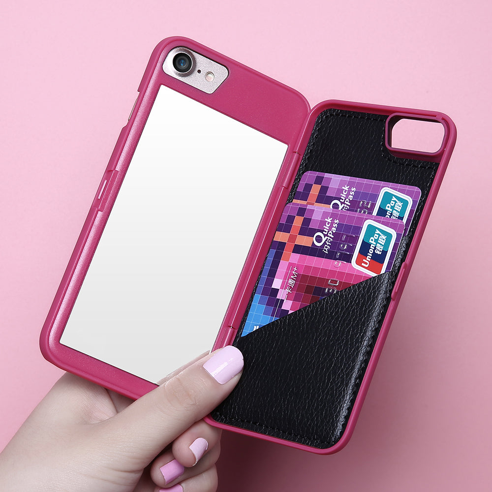 Mirror Case +Card Wallet - FLOVEME