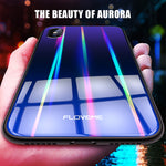 Aurora Tempered Glass Phone Case For iPhone - FLOVEME