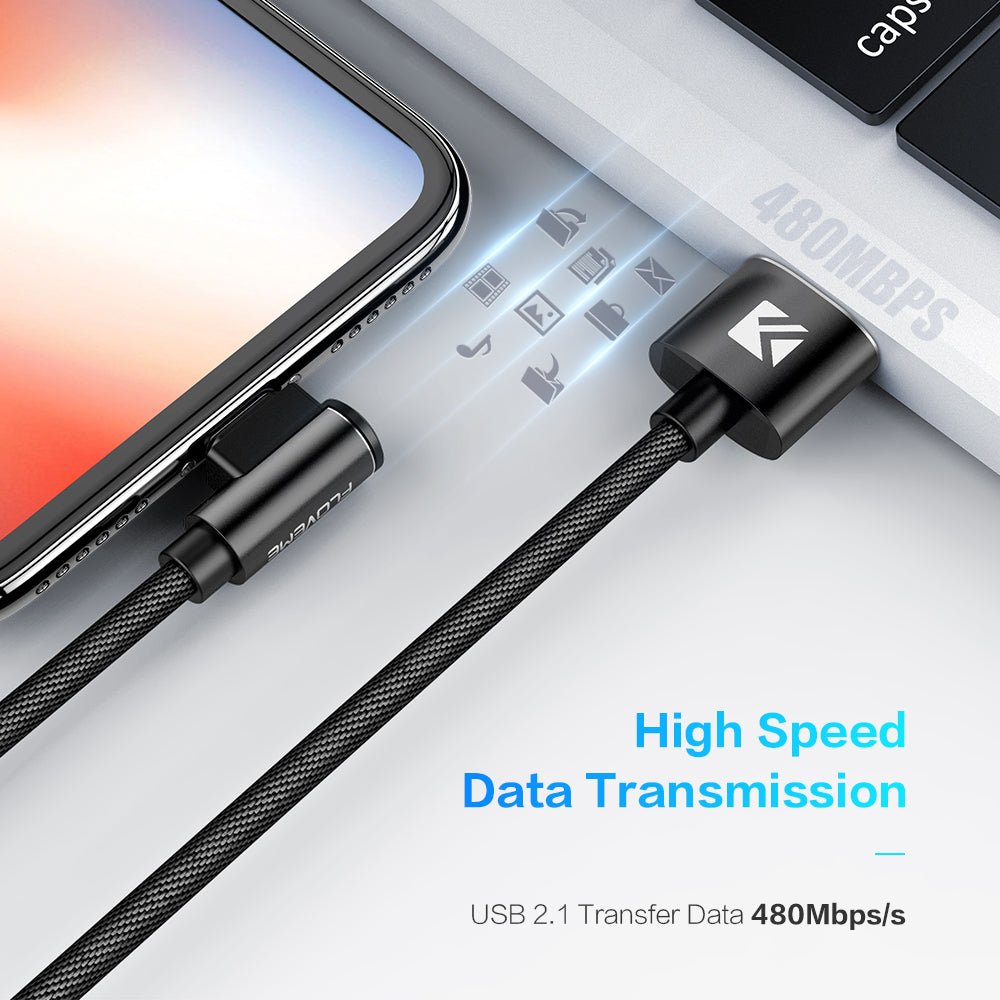90 Degree Fast Charging Date Transfer Cable - FLOVEME