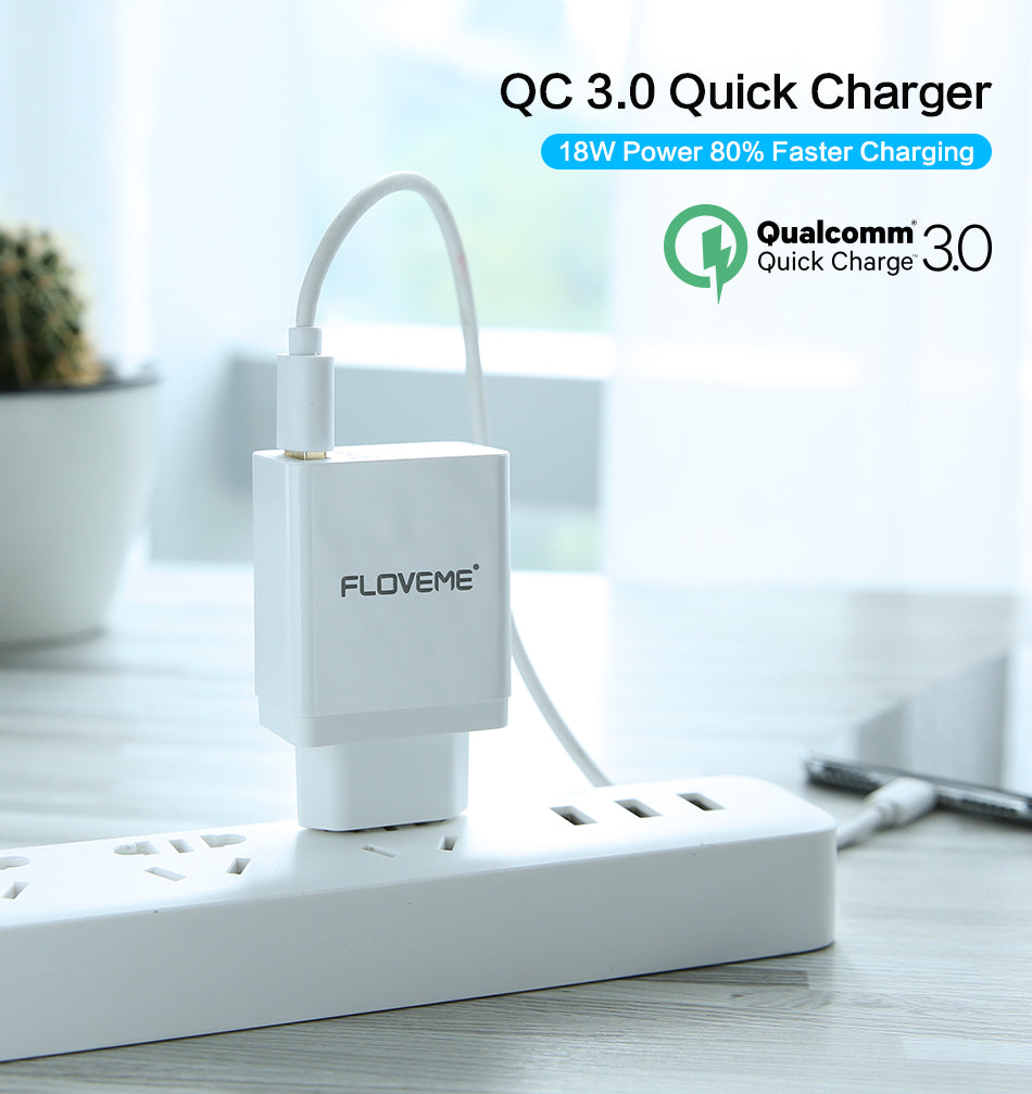 QC 3.0 USB Charger - FLOVEME