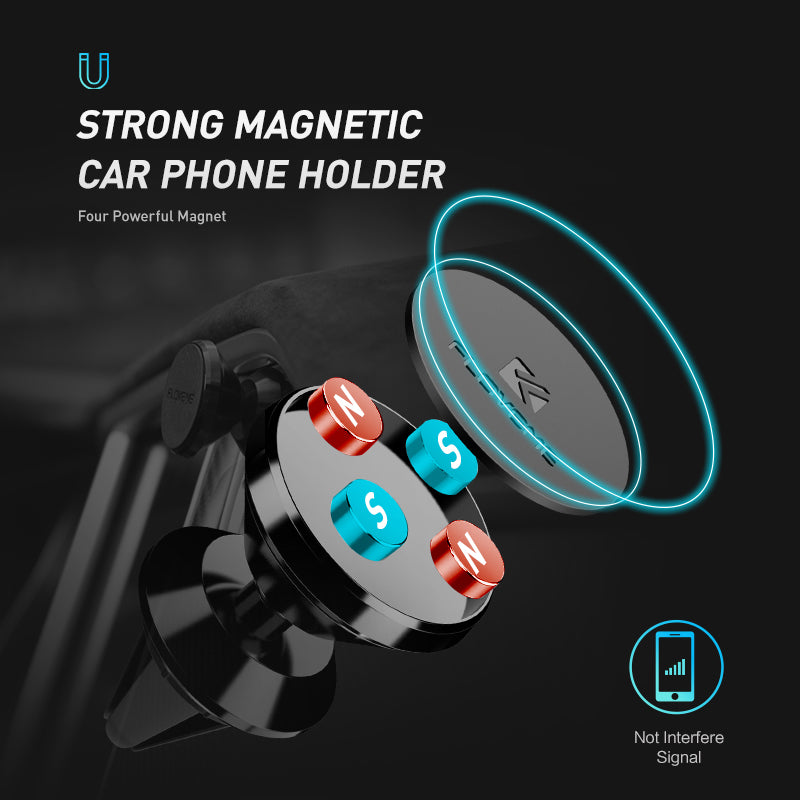 Air Vent Holder 360 Degree Rotation Magnetic Car Phone Mount - FLOVEME