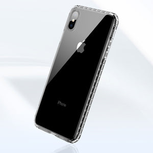 Soft TPU Cover Clear Case for iPhone 7 8 Plus X XS MAX - FLOVEME
