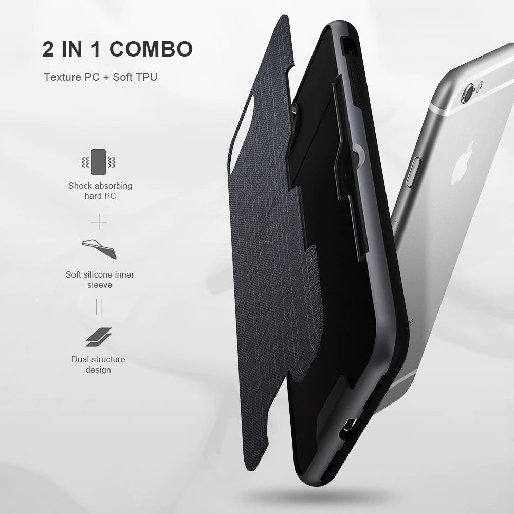 Phone Case with Card Holder Slot for iPhone XS Max XR - FLOVEME