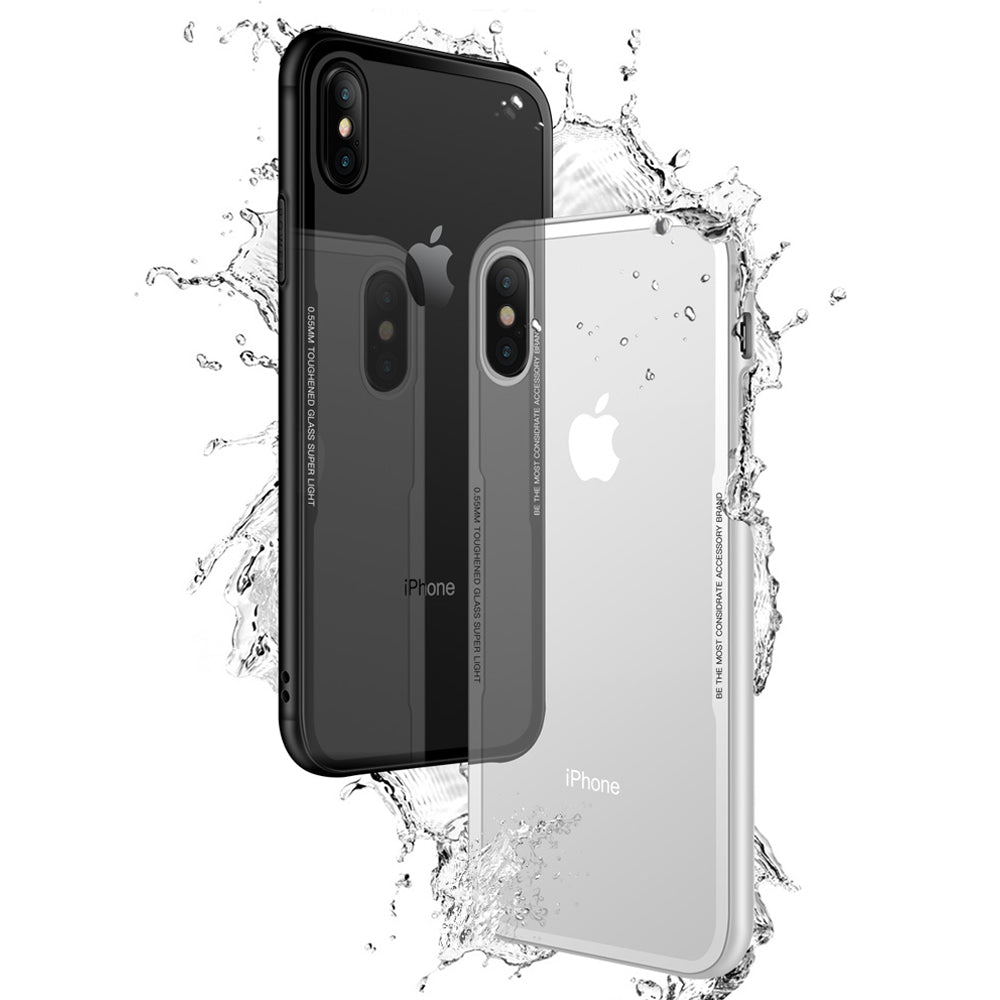 FLOVEME Tempered Glass Phone Case for iPhone X 10 , 0.7MM Protective Mobile Phone Cover Cases for iPhone 7 8 Plus 6 6s XS Max XR - FLOVEME