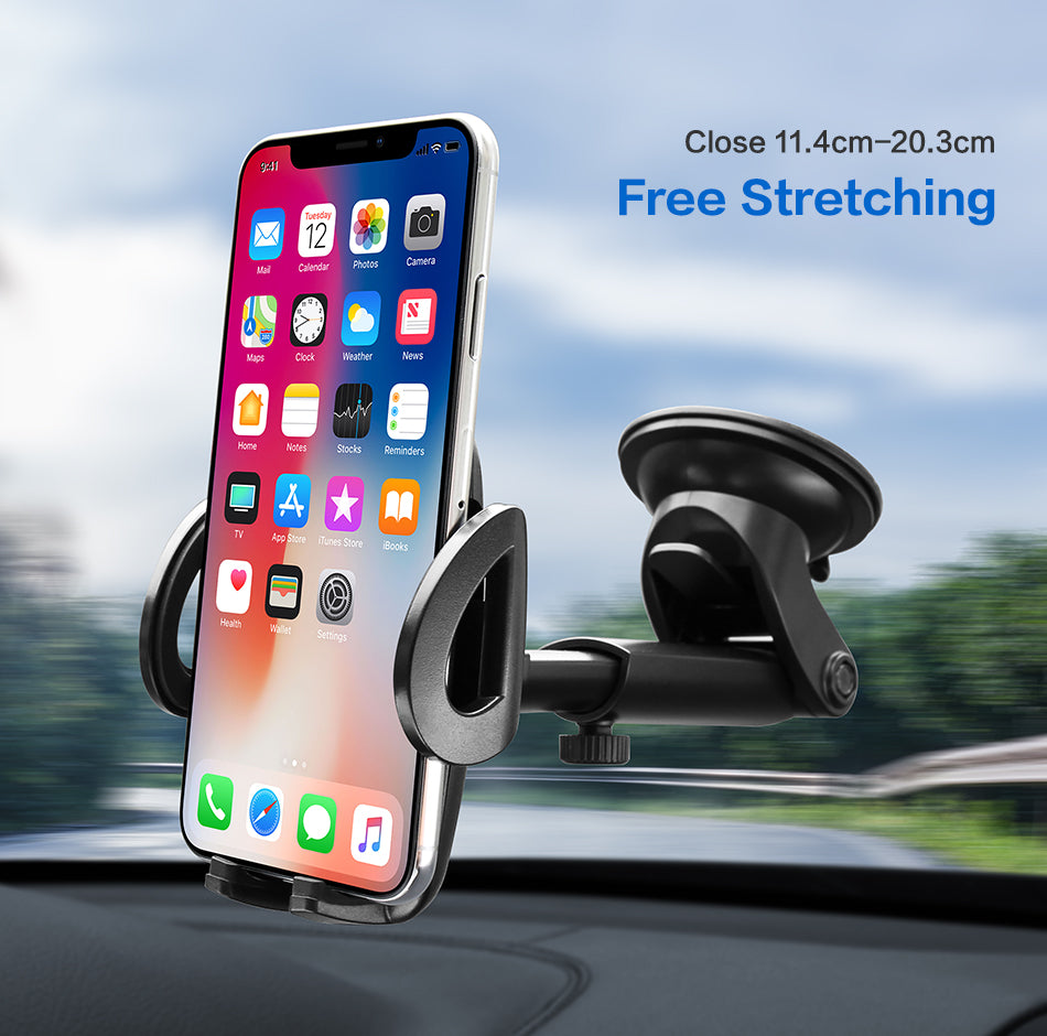 FLOVEME Car Phone Holder For iPhone XS MAX XR X Xiaomi 360 Rotate Dashboard Windshield Car Mount Mobile Holder For Phone Stand - FLOVEME
