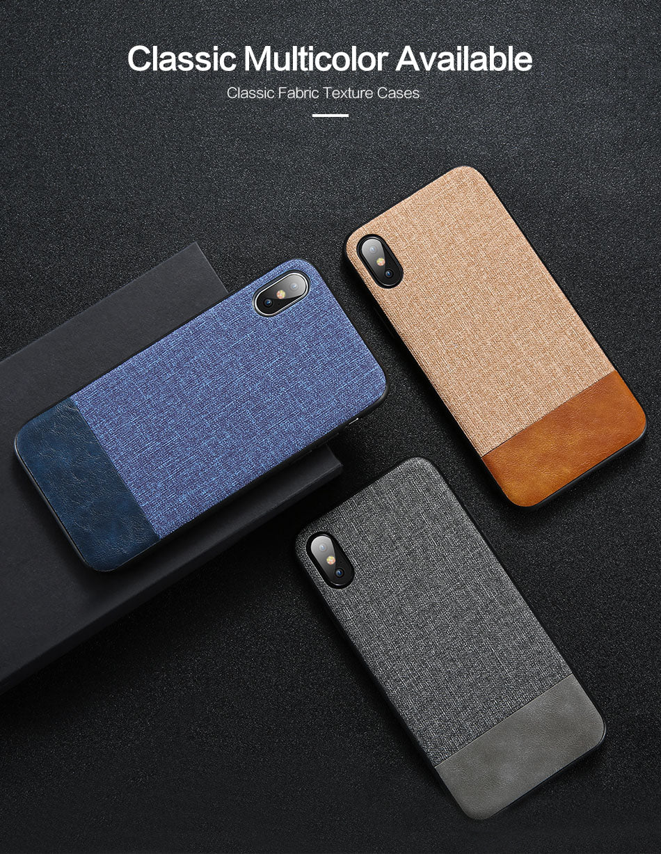 FLOVEME Cloth Leather Phone Case For Huawei P20 Lite Mate 20 10 Pro Splice Case For Huawei  Honor 8X 10 Lite Y9 2019 Cover Coque - FLOVEME