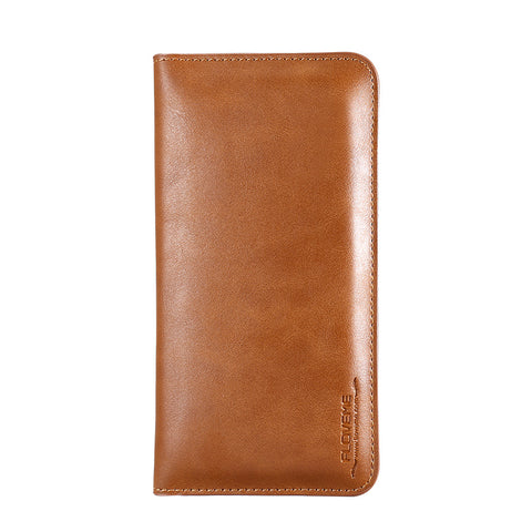 Handmade Leather Wallet Case - FLOVEME
