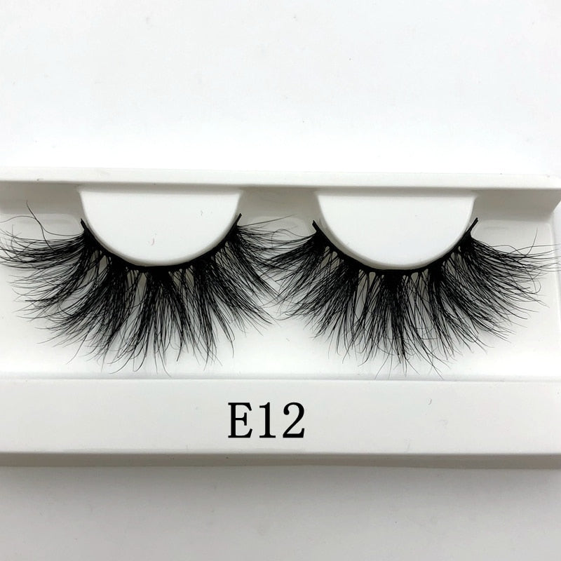 Mikiwi 25mm False Eyelashes Wholesale Thick Strip 25mm 3D Mink Lashes Custom Packaging Label Makeup Dramatic Long Mink Lashes - FLOVEME