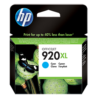 HP 920XL CD972AE cyan ink ראש דיו כחול