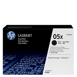 HP 05X 2-pack Black Toner CE505X זוג טונרים שחור
