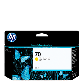 HP 70 Yellow Ink C9454A ראש דיו צהוב