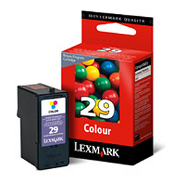 LEXMARK 18C1429 29 color ink ראש דיו צבעוני