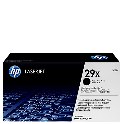 HP 29X Black Toner C4129X טונר שחור