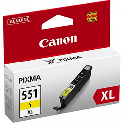 CANON CLI-551Y XL yellow ink ראש דיו צהוב