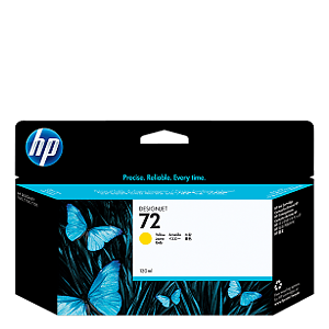 HP 72 Yellow Ink C9373A ראש דיו צהוב