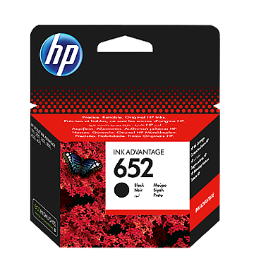 HP 652 F6V25AE black ink ראש דיו שחור