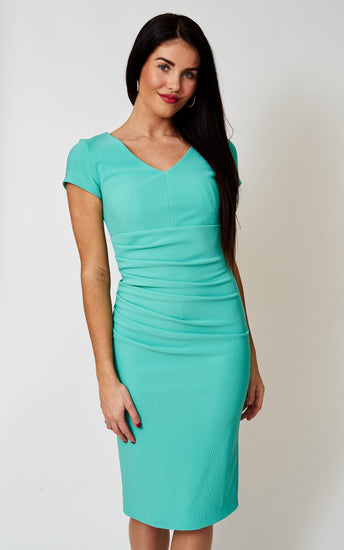 The Bethany Mint Stretch Pencil Dress