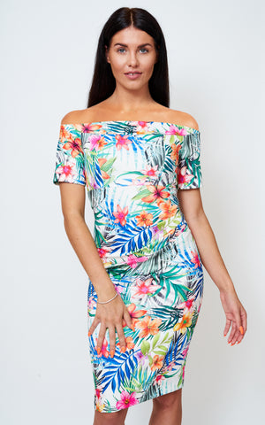 The Bardot Tropical Print dress
