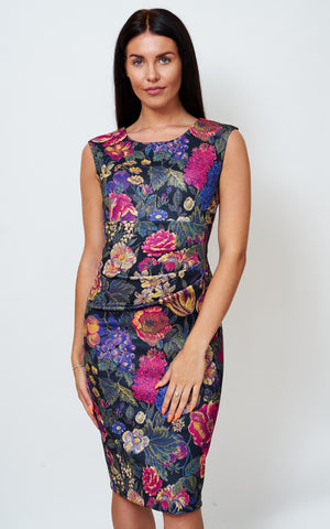 The Allessandra tapestry floral print sleeveless dress