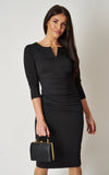 The Cecile Black Fitted Black Stretch Pencil dress(The Ultimate Collection*)
