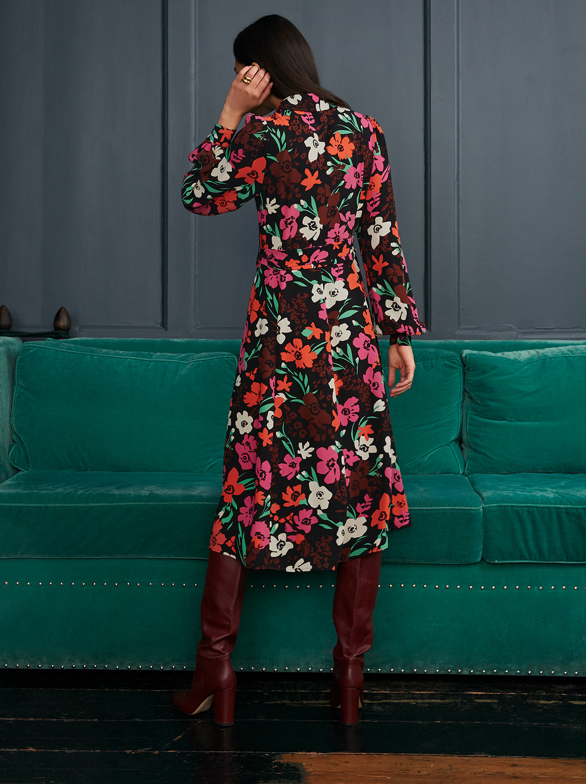 Alicia Floral Print Shirt Dress by KITRI Studio