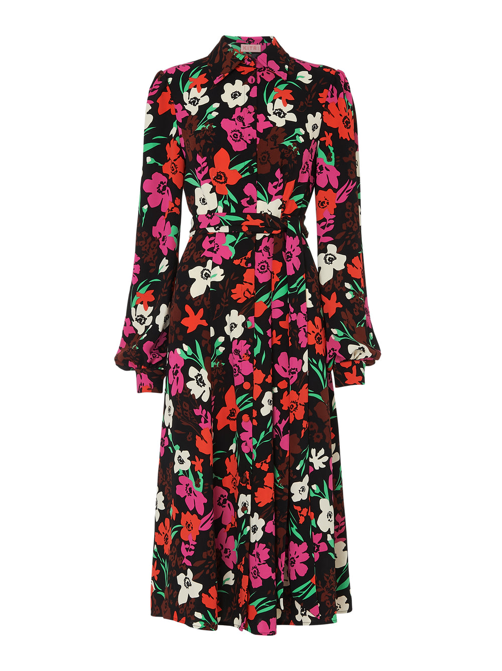 Alicia Floral Print Shirt Dress