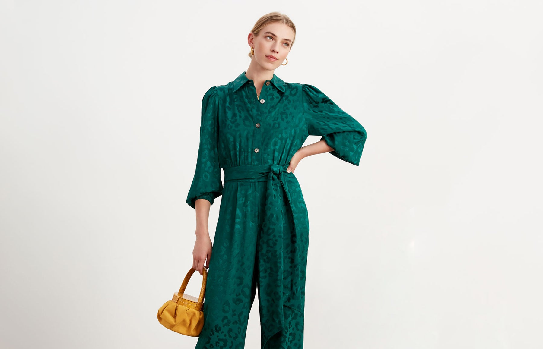 Allegra Animal Jacquard Jumpsuit