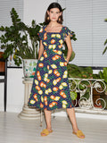 Alora Fruit Print Midi Dress by KITRI Studio