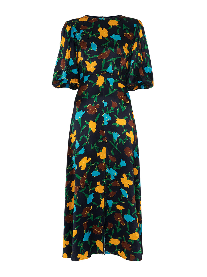 Aria Floral Print Midi Dress by KITRI Studio