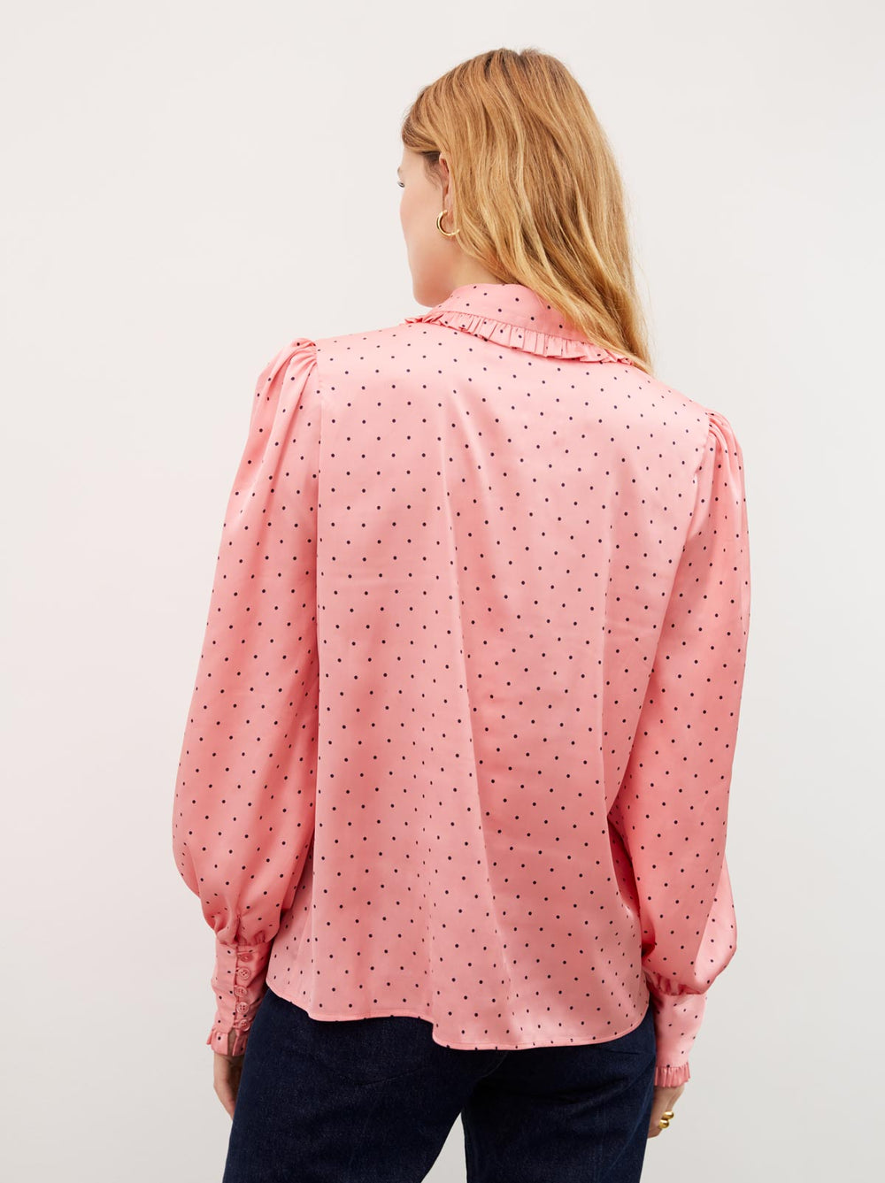 Bessie Pink Pussy Bow Blouse