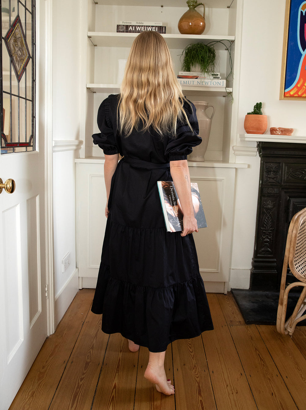 Ninette Black Shirt Dress
