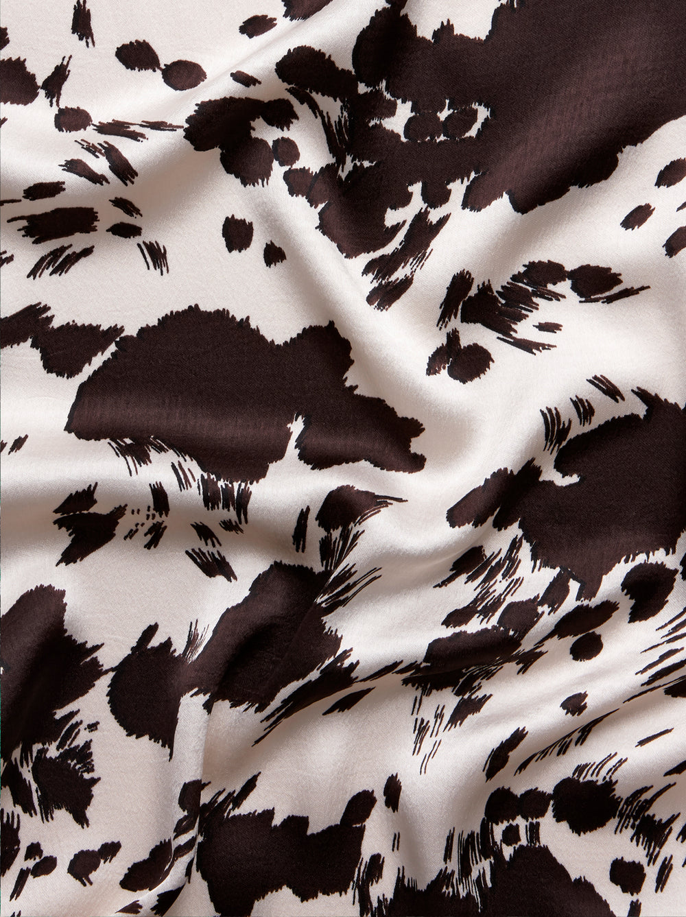 Tara Cow Print Pleated Shirt Dress