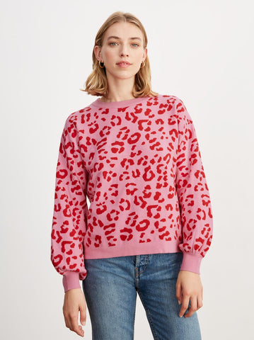 Chiara Pink Animal Jacquard Jumper