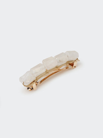 Clear Cut Stone Hair Clip