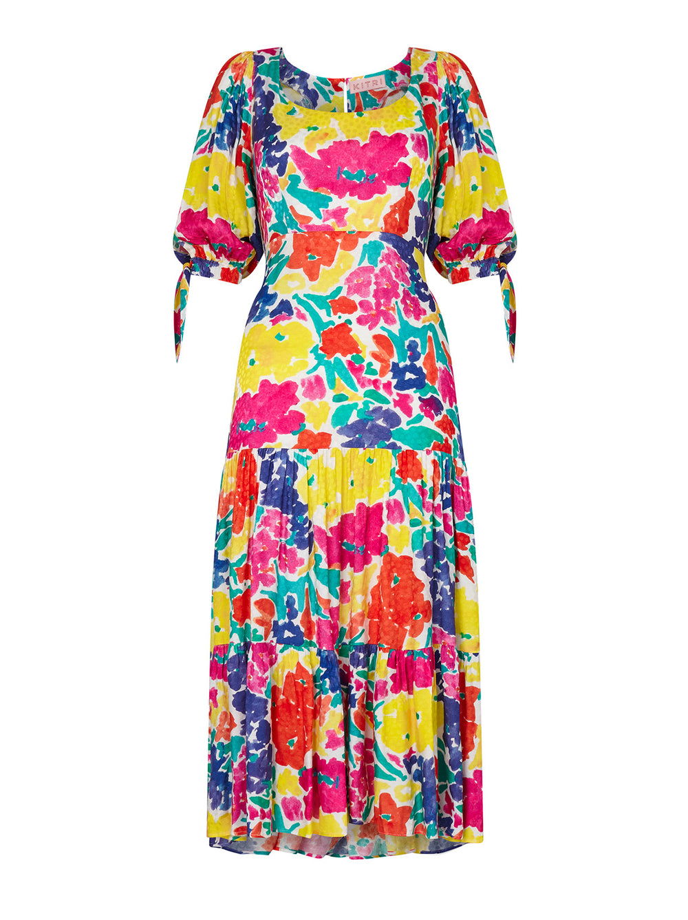 Darcy Printed Jacquard Dress by KITRI Studio