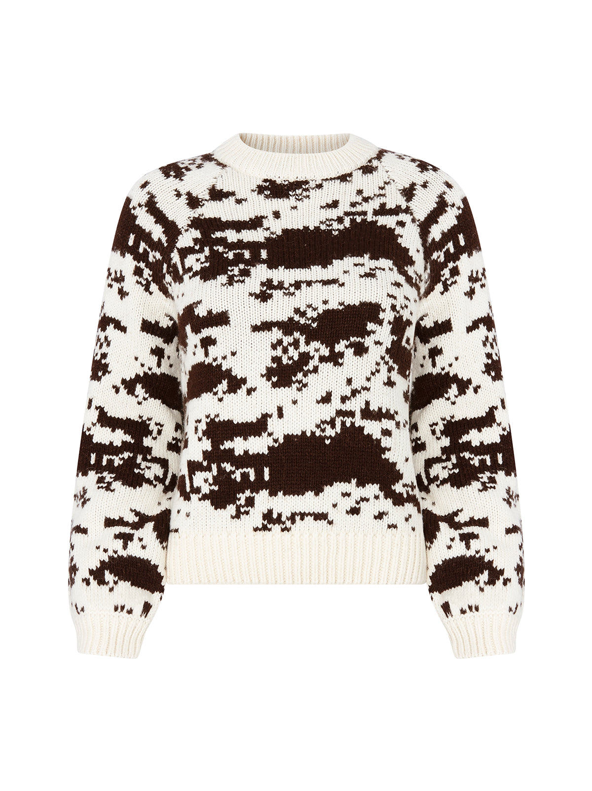 Deanna Cow Print Jumper by KITRI Studio