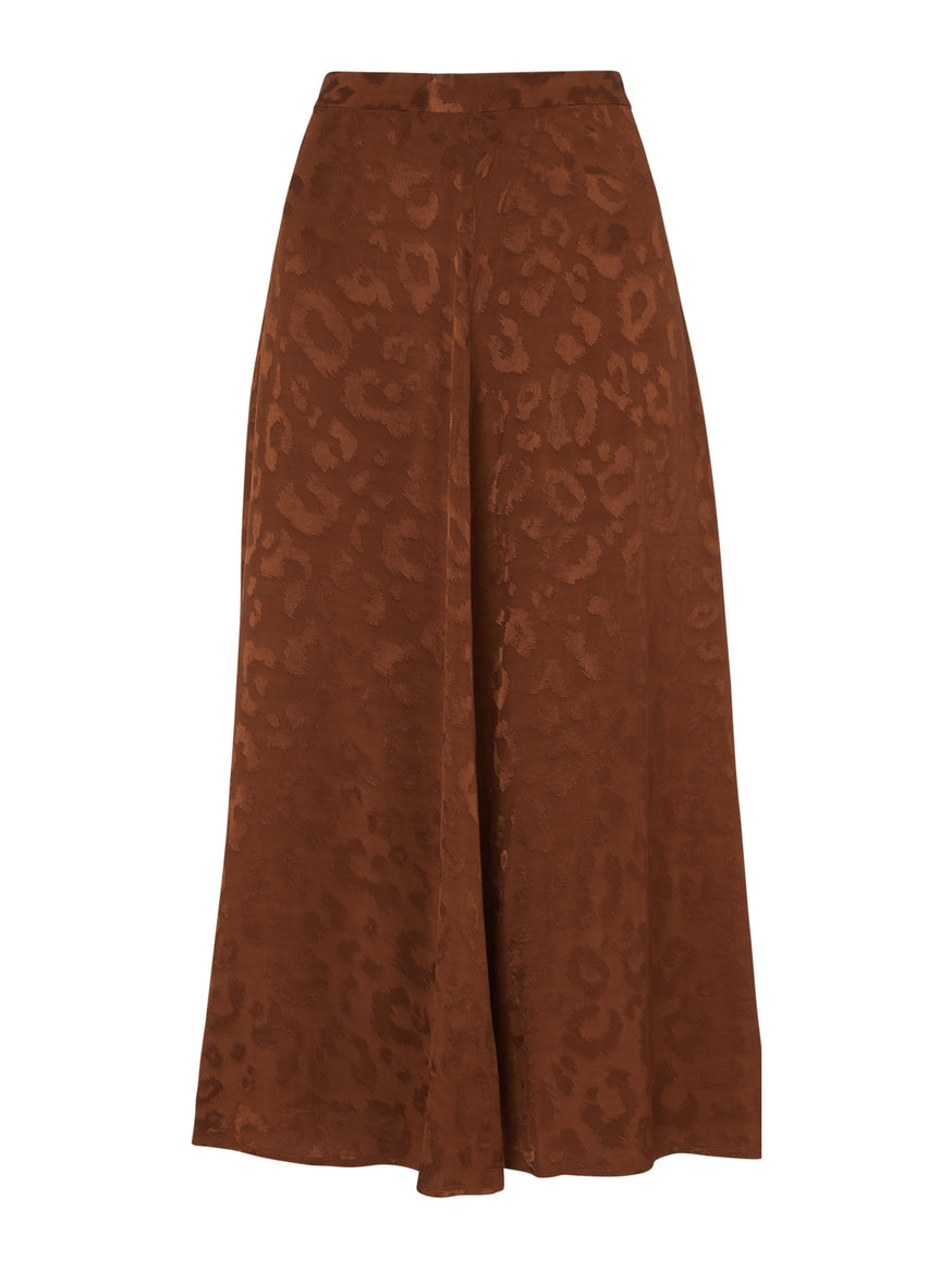 Emilia Animal Print Midi Skirt by KITRI Studio