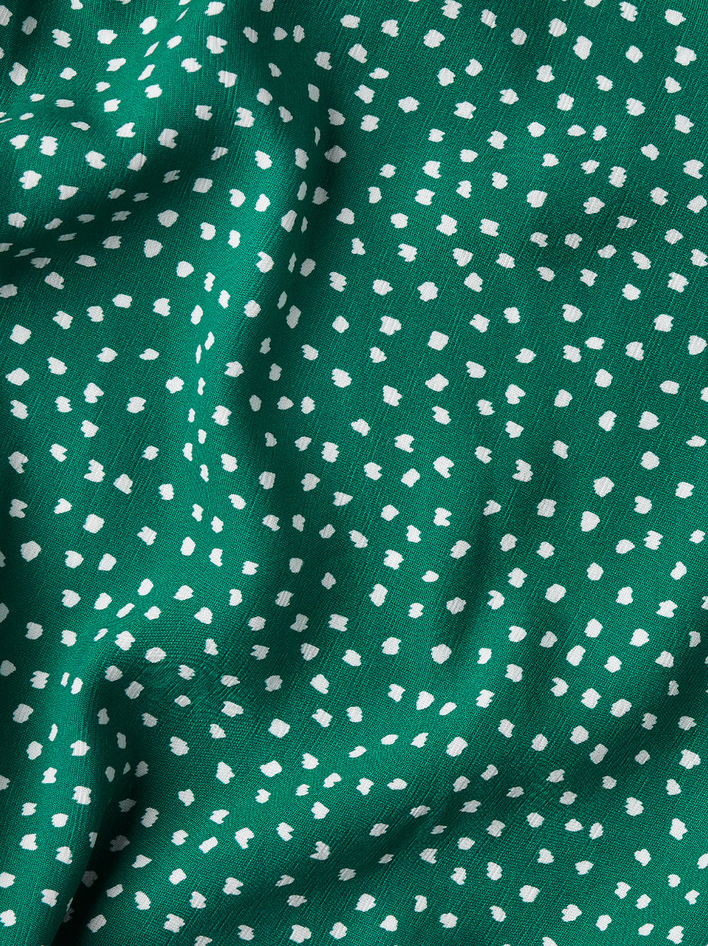 Molly Green Spot Print Smocked Dress